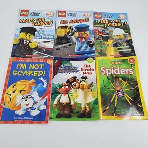 Step Into Reading Lot 6 Books Lego City Discovery